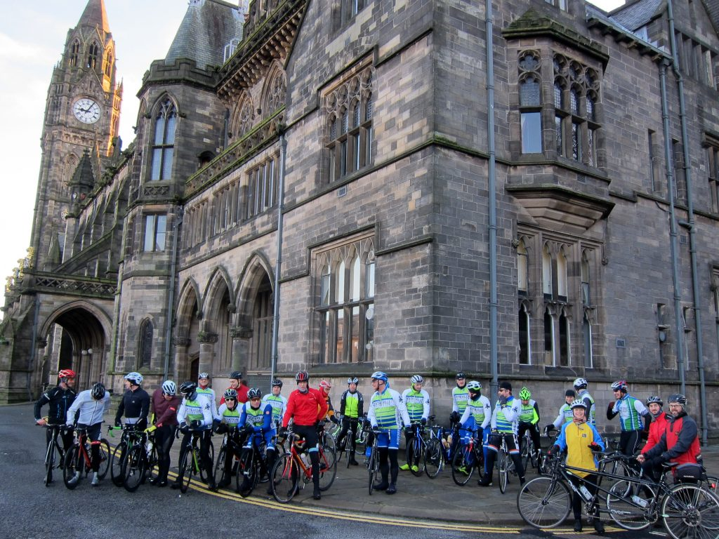 ABC Centreville Cycling Club Manchester South Pennines_reliability ride 2018_peleton start