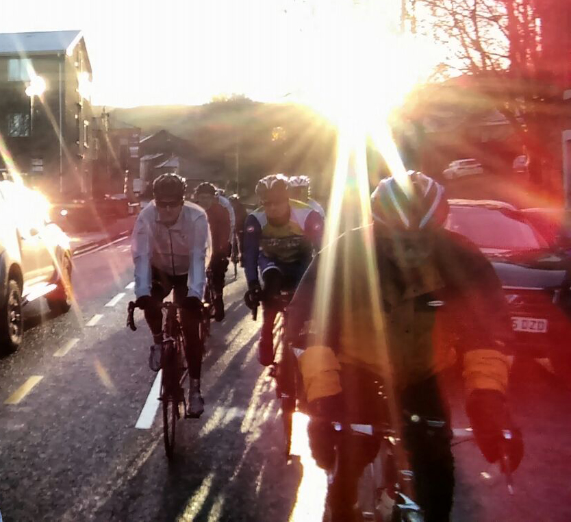 ABC Centreville Cycling Club Manchester South Pennines_reliability ride 2018_winter peleton